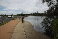 Bargara, Mouth of Moneys Creek, from Crawford Park, looking north.