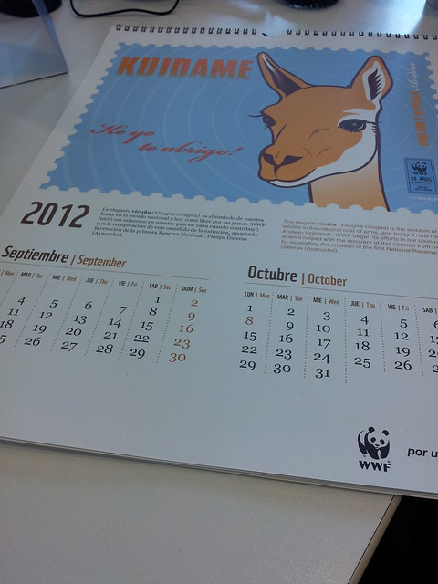 Calendario wwf per con ilustraciones de cherman flickr for Horario peru wellness