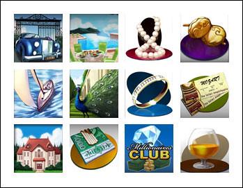 free Millionaires Club 3 Slots slot game symbols