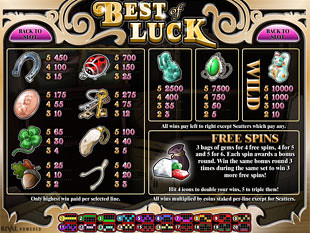 Best of Luck Slots Payout
