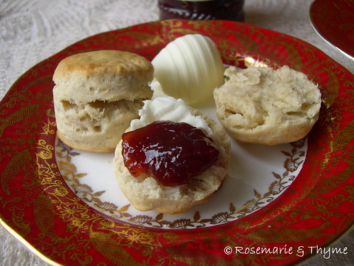 DSCN8929 - scone butter and jam