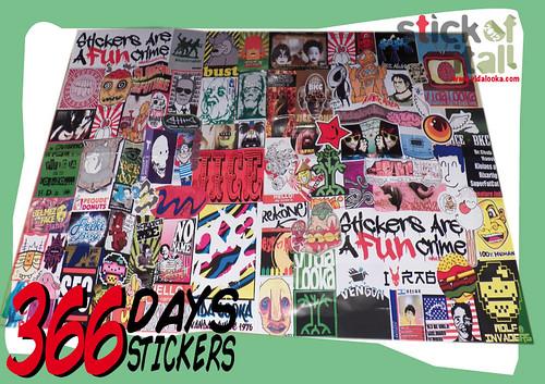 366 Days - 366 Stickers - Enero - January -  Lo prometido es deuda....aquí está el resultado by Vidalooka - STICK OF IT ALL VOL.3 -
