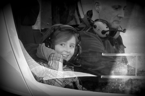 My daughter the co-pilot, sometimes you need to open a childs mind to the wonders that surround us