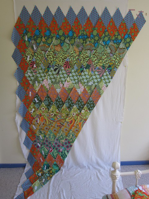 Kaffe Fassett diamonds quilt