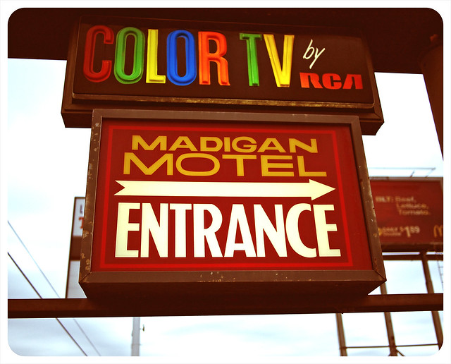 Color TV sign