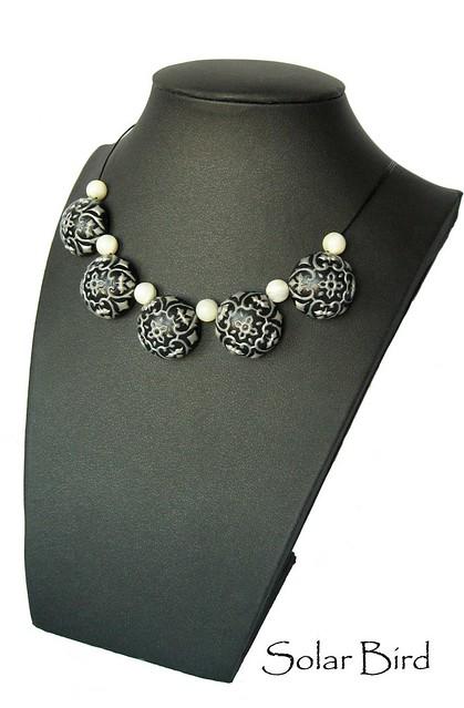 "necklace ""Snowy Night"""