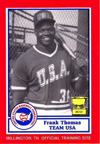 Baseball Card Bust Frank Thomas 1990 Us Baseball