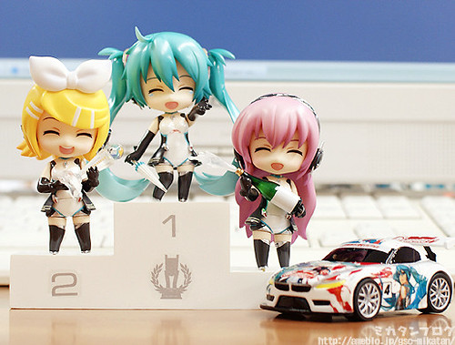Nendoroid Petit Racing Miku, Rin, and Luka (2011 version)