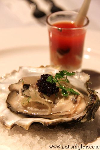 Fresh Canadian Oyster and Sydney Rock Oyster Shooter, The Speakeasy Restaurant & Bar