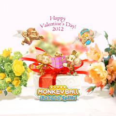 Happy Valentine's Day from Super Monkey Ball Banana Splitz!