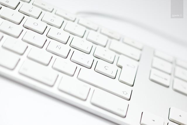 teclado de mi mac en b&n