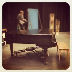 The piano has finally arrived! #quartetwithgrandpiano