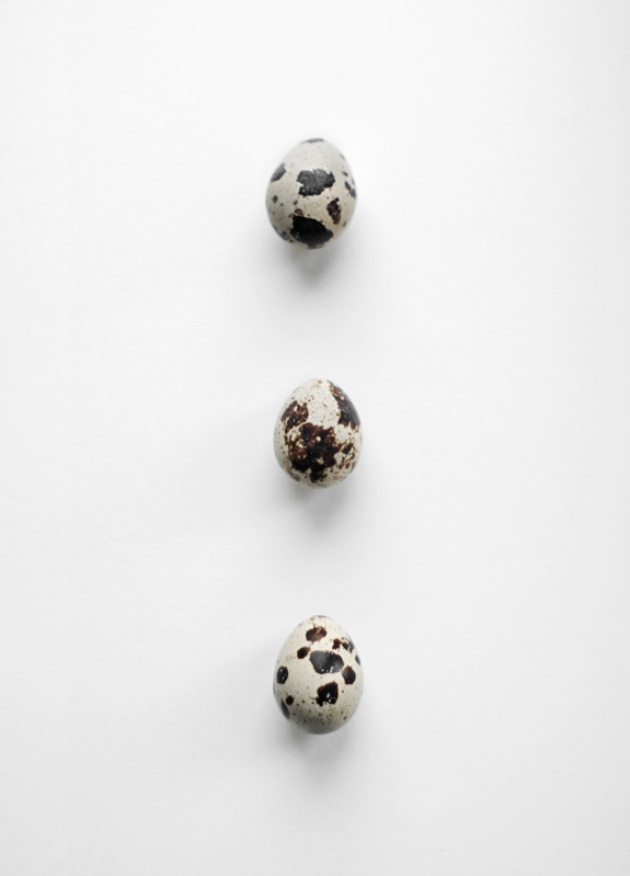 'Q' IS FOR QUAIL EGGS
