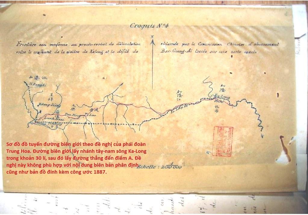 sơ đồ đồ tuyến đường biên giới theo đề nghị của phái đoàn Trung Hoa
