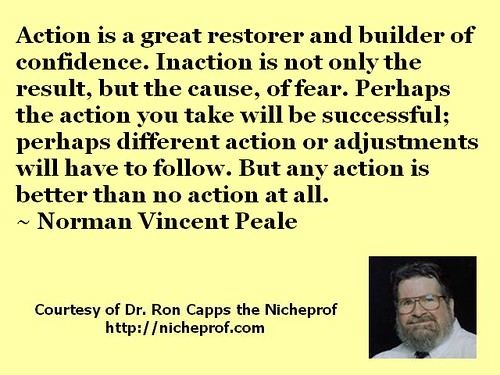Norman Vincent Peale on the Importance of Action