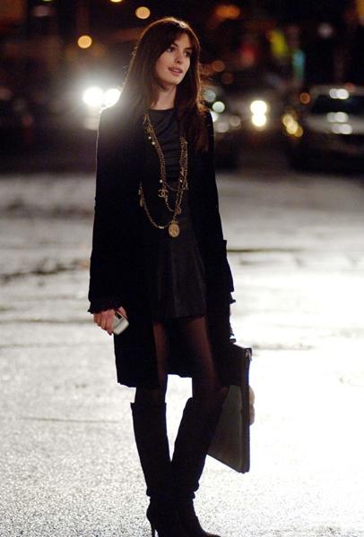 Anne Hathaway on The Devil Wears Prada - Knee High Boots