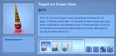 Tipped Ice Cream Cone