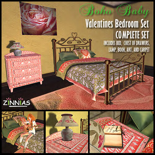 promo Zinnias Boho Baby Valentine Bedroom set