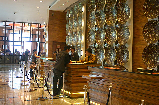 Check-in at the Marriott Hotel Manila