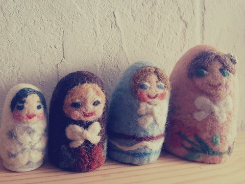 Felted Nesting Matryoshka Dolls by natsuko.m