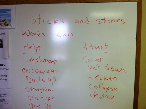 Power of our Words: Sticks and Stones