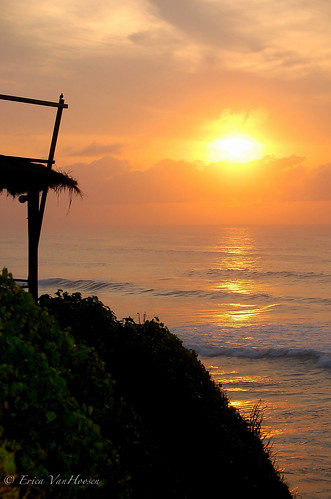 ocean sunrise landscape ghana accra