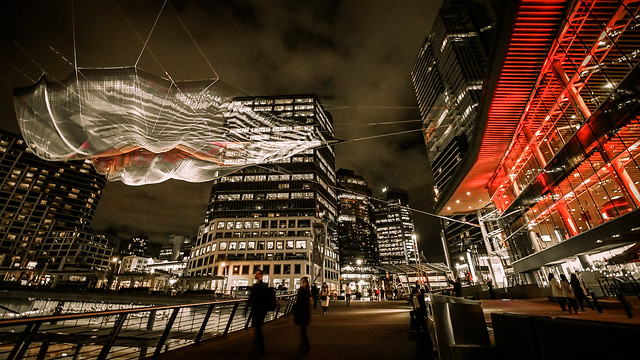 Skies Painted with Unnumbered Sparks by Janet Echelman