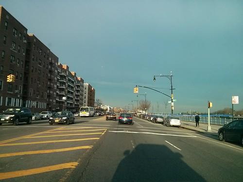 March in Brooklyn. Emmons Ave, Sheepshead Bay