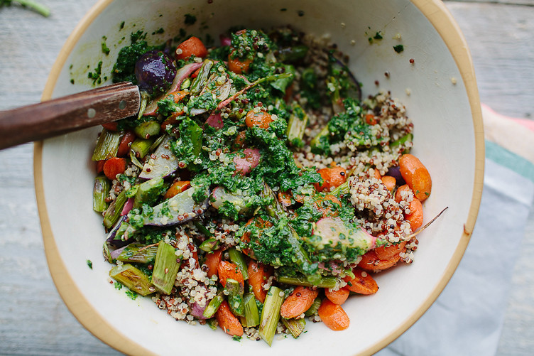 SPRING VEG TABBOULEH WITH GREEN HARISSA » The Year In Food