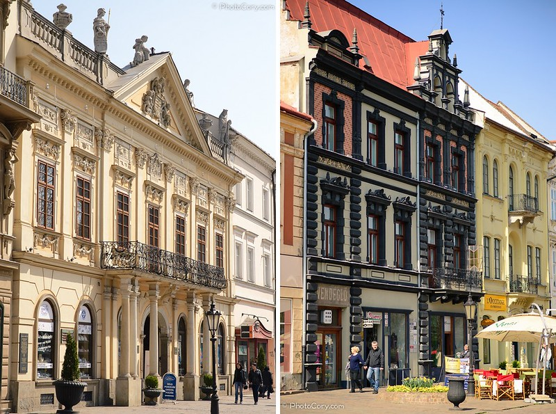 old town hall and buildings on the Main Street in Kosice, Slovakia