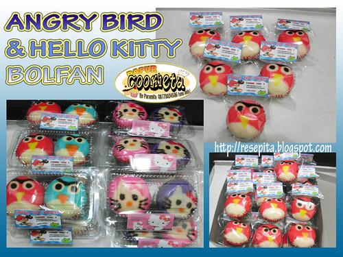 ANGRY BIRD & HELLO KITTY BOLFAN
