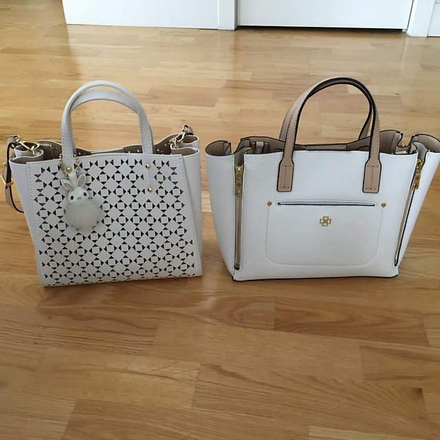 Ann Taylor Signature Laser Cut Crossbody Tote Comparison