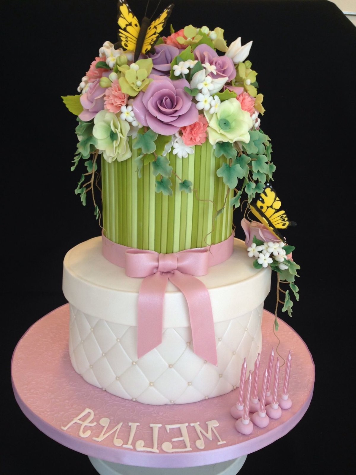16 lovely cake presentations page 7 of 14 birthday cake bouquet of flowers dhlflorist Images