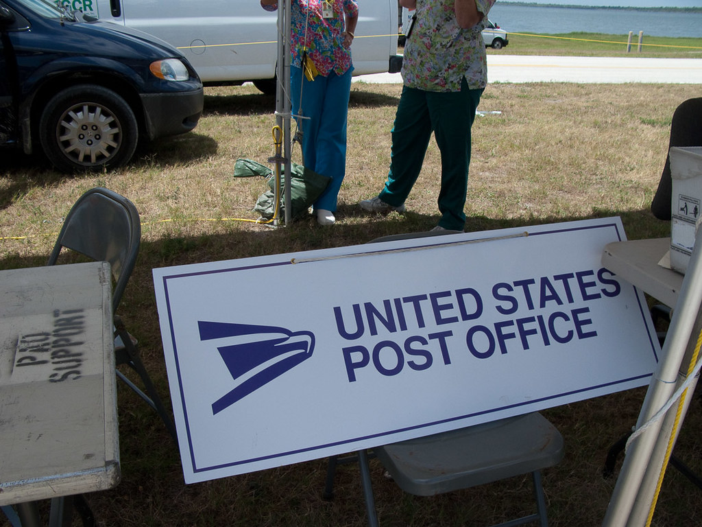 Post office at shuttle launch