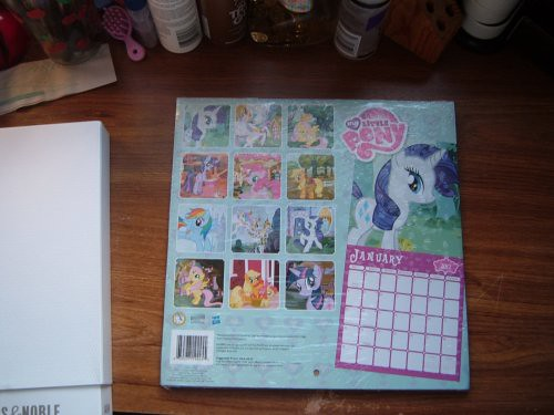 Cute My Little Pony Calendar (back)