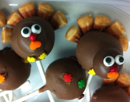 Cake Pops - Thanksgiving Turkeys