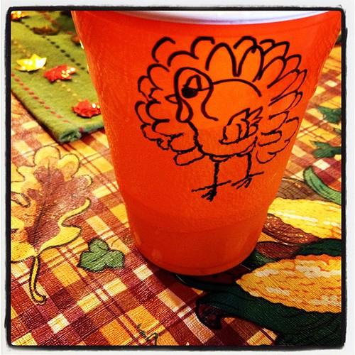 Turkey on my cup #thanksgiving #gobblegobble