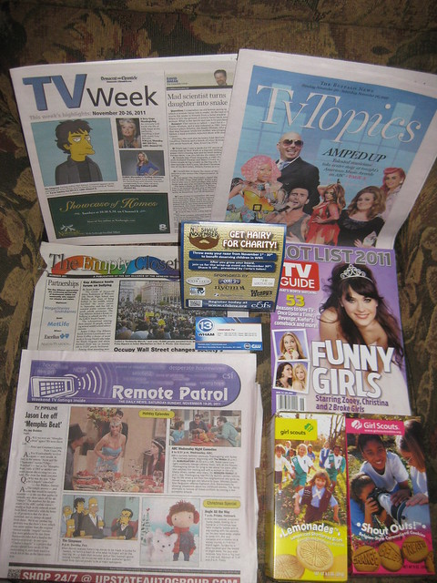 TV Guides from Rochester, Buffalo, Batavia Nov. 2011