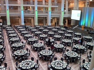 Tables Set for Gala