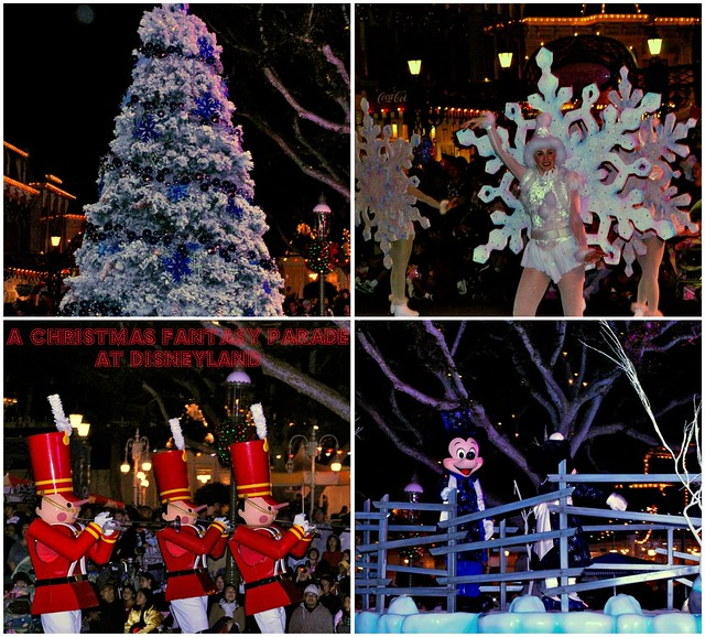 A Christmas Fantasy Parade at Disneyland