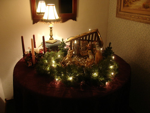 Entry table - Christmas decor