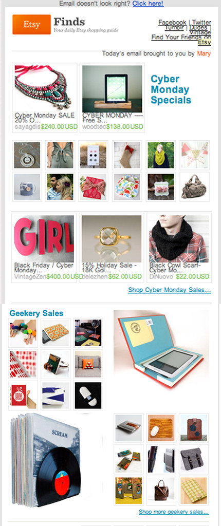 Nerd Nest in Etsy Finds E-mail!