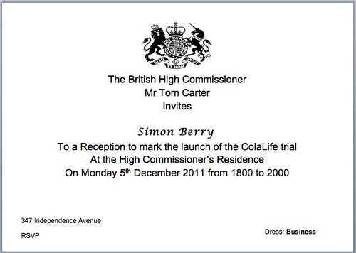 British High Commission invitation