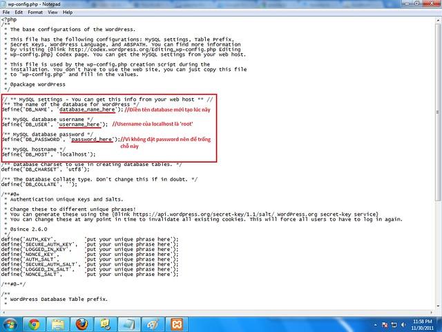 Cấu hình file Config.php của WordPress