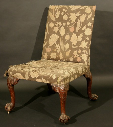A George II walnut side chair, which carries an estimate of £1,000 to £1,500