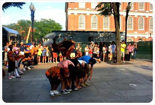 boston street performer jump
