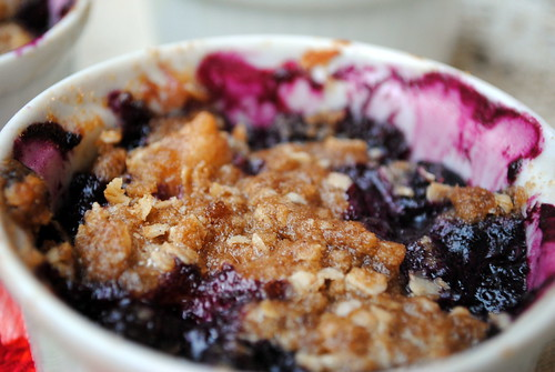 Pear & Blueberry Crisp