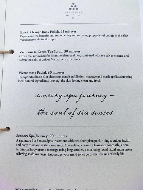 Six Senses Spa Menu & Price List - Six Senses Ninh Van Bay 5