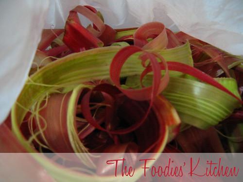 Freezing Rhubarb