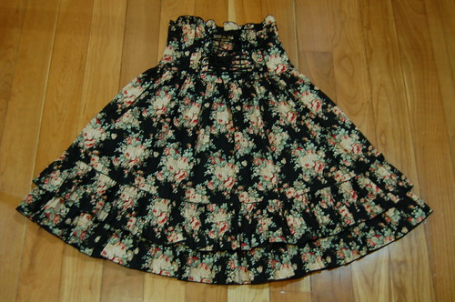 Lolita Closet Count! Skirts: Black - Bodyline Floral High Waist Skirt